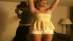 ENF – Drunk Dancing Blonde Tit Flash