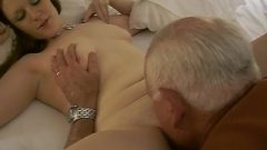 Katharine Nadzak Lets Naughty Old 82 Year Old Eat Her Pussy