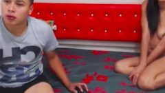 Titillating Cam Girl Likes Her Boyfriend's Feet, Gets Caught And Continues After!)