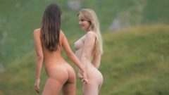Spicy Babes Playful And Naked Outdoors