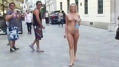 Spectacular Public Nudity With Crazy Barbie Laura