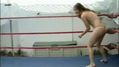 Enf Female Stripped In Outdoor Wrestling Ring