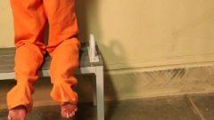Sensual Female Handcuffed Behind The Back