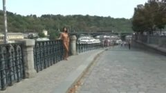 Drahomira Shows Us Her Inviting Naked Body In Public