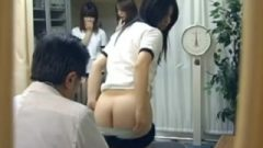 Asian School-girls Medical Exam