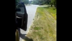 Hubby Makes Petite Wife Run Around Car Naked