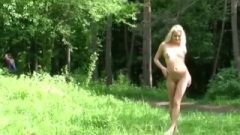 Golden-haired Young Leaves Her Clothes At Home And Goes Naked Outside Nude Naturist